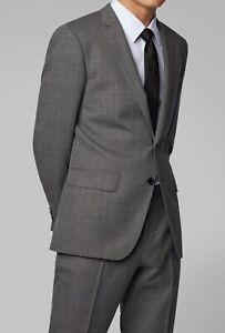 Hugo Boss Men's 'Huge6' Slim Fit Wool Grey Micro Pattern Sport Coat Blazer 38R