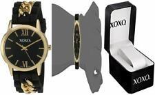 XOXO Women's Quartz Metal and Rubber Watch, Color:Black (Model: XO8101)