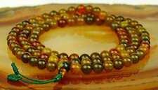 Mala Moss Agate Size (8mm) Necklace Gemstone Guru Stupa NEPAL BUDDHISM 102C