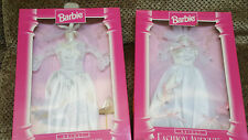 Lot of 2 BARBIE: FASHION AVENUE BRIDAL - WHITE WEDDING GOWNS - 15897 - NIB