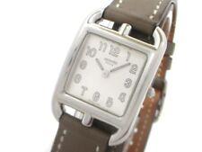 Auth HERMES Cape Cod Double Tour CC1.210 Gray Silver Women's Wrist Watch 1580004