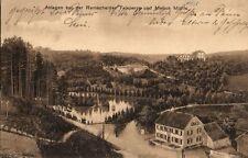 15566/ Foto AK, Anlagen bei der Remscheider Talsperre und Mebus Mühle, 1911