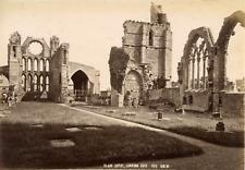 Ecosse, Cathédrale d'Elgin, côté est, ca.1880, Vintage albumen print Vintag