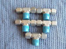 SWAGELOK 1/2 MPT  X 1/2 TUBING TEE SS  FITTINGS LOT 0F 5