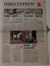Ford Express No 26 10/1961 Colour Newspaper Popular Anglia Classic Consul Zephyr