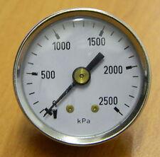 Pressure Gauge 0..2500 kPa 40mm Gauge Rear entry,  SS case