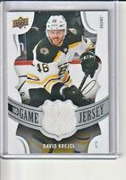 David Krejci Boston Bruins 2018-19 Upper Deck Jersey Card