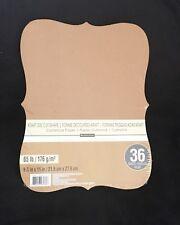 Recollection - Kraft Die Cut Shape - Cardstock Paper - Pack of 36