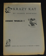 CAPTAIN GEORGE'S COMIC WORLD #4 KRAZY KAT BY GEORGE HERRIMAN F+