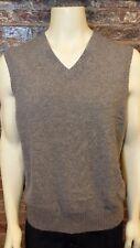 Brooks Brothers V Neck Vest 100% Merino Wool Gray Mens L