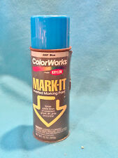 VINTAGE KRYLON COLOR WORKS MARK-IT SPRAY PAINT CAN - BLUE - 3/4 FULL COLLECTORS