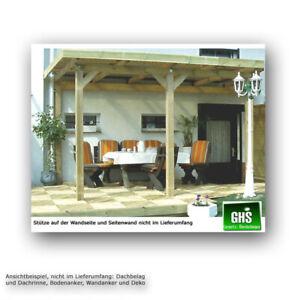 Überdachung 5x4 m, Anbau-Terrassenüberdachung Holzkonstruktion