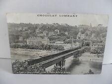 CPA ville de LYON - Le coteau St Irenée - Le pont du chemin de fer sur la Saone