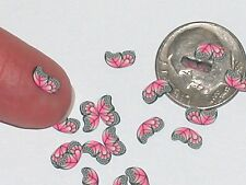 15pc. Super tiny Magical Butterfly fairy Wings Pink Miniature for glass bottle *