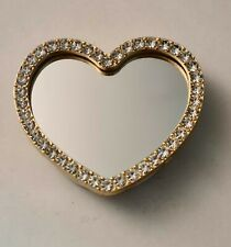 Rhinestone Loveheart Pop stand With Compact Mirror
