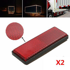 2x en plastique rouge réfléchissant avertissement plaque/bande autocollants pour voiture camion de sécurité