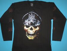 Slayer - Skull Hat T-shirt Long Sleeve NEW Slatanic Slaytanic