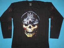 Slayer - Skull Hat T-shirt Long Sleeve NEW Slatanic Slaytanic