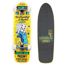 "Sector 9 Royal Flush Morning Breath 8.5"" Yellow Complete Cruiser Bones Gullwing"