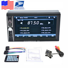 """6.6"""" 2DIN Touch Car Radio MP5 Player Bluetooth FM Stereo +Rear Camera USA Stock"""