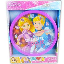 Orologio da Parete Principesse Disney Rapunzel Cenerentola Cameretta Bambine