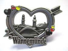 Warnemünde Heart Metal Magnet Baltic Sea Beach Souvenir Germany New