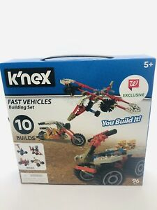 K'nex Fast Vehicles Building Set, Builds 10 Different Vehicles, For Ages 5+