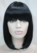 BOB Black Short Straight bangs Women Female Lady Hair Wigs Perruque ZZ788