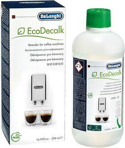 1x DeLonghi EcoDecalk 500ml Espresso Coffee Maker Machine Descaler Fluid Bottle