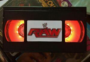 WWE Raw Night Light, Desk Lamp, Led, WCW, WWF, WCW, ECW, Bedroom Lamp, TV, Kids