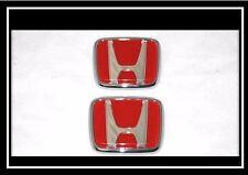 Honda Jdm Civic Prelude Crx Accord Jdm Hood & Trunk Red Emblem Badge