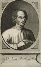 NICCOLÒ MACHIAVELLI - BILDNIS - Johann Georg Mentzel - Kupferstich 1714