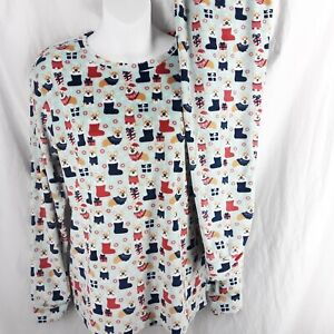 Frankie And Johnny Pajamas Womens 2 Piece Set Xmas Corgi Dogs Super Soft Size S