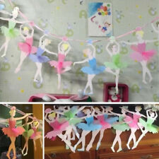 Bunting Banner Paper Flag Ballerina Girl Birthday Party DIY Decoration