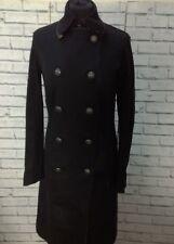 Ladies Calvin Klein Black Trench Coat Military Style Jacket - Size S / UK 10