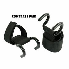 ARD Power Weight Lifting Training Gym Hook Grips Straps Wrist Support Lift Black