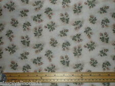 Makower Half Metre Vintage Rose Bud Cotton Fabric Quilting Patchwork Cream