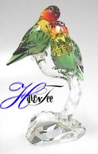 Lovebirds Colorful Birds On Branch 2018 Swarovski Crystal 5379552