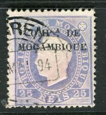 PORTUGUESE MOZAMBIQUE COMPANY; 1892 early Optd. issue used 25r. value, Shade