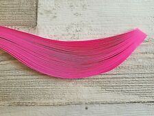 100 pearlescent metallic quilling paper strips in pink in 3mm,5mm,10mm wide