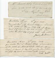(3) 1820s Plantation No. 27 Documents, Aurora Maine ME, Silsby, Brown, Leland