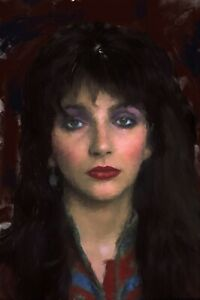 Kate Bush Painting acrylic on canvas by Brian Tones