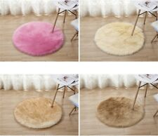 Fluffy Faux Fur Rug Round Carpet Soft Shaggy Home Bedroom Rug Floor Mat Seat Pad