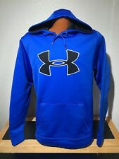 Mens Under Armour Hooded Athletic Hoodie Size Medium (M) Blue - Polyester