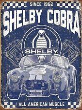 SHELBY COBRA Retro Metal Tin Sign Poster Plaque Garage Wall Decor A4