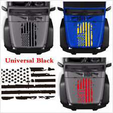New 20''x35'' Black USA Flag Style Graphics Decal Sticker For Car Hood Window