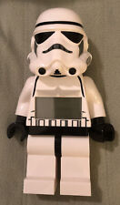 Lego Star Wars Storm Trooper Large Minifigure Digital Alarm Clock posable white