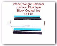 45 pcs 45oz 1oz Blue Tape Black Coated Adhesive wheel Weight Balance Lead Free