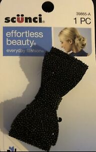 Scunci effortless Beauty Bow tie Hair Clip Alligator Clip Black Hair Accessories