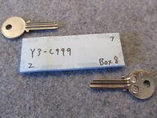 1 key blank uncut blade Y3 C999 key for various locks